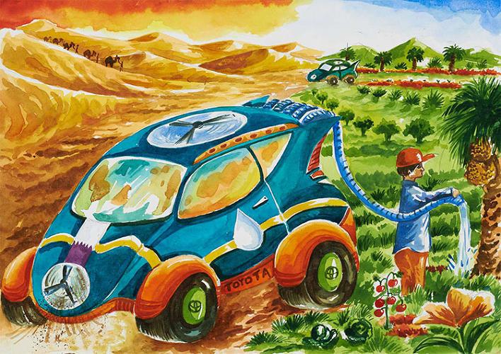 孩子眼中的未来汽车:比无人驾驶更具科幻感高清图片