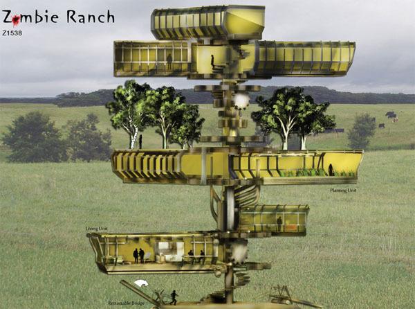另类僵尸农场设计:僵尸发电食物自给