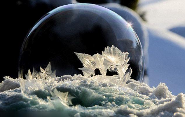 根据外界温度、天气的改变,瓶内会展现出不同型态的结晶.-美到令