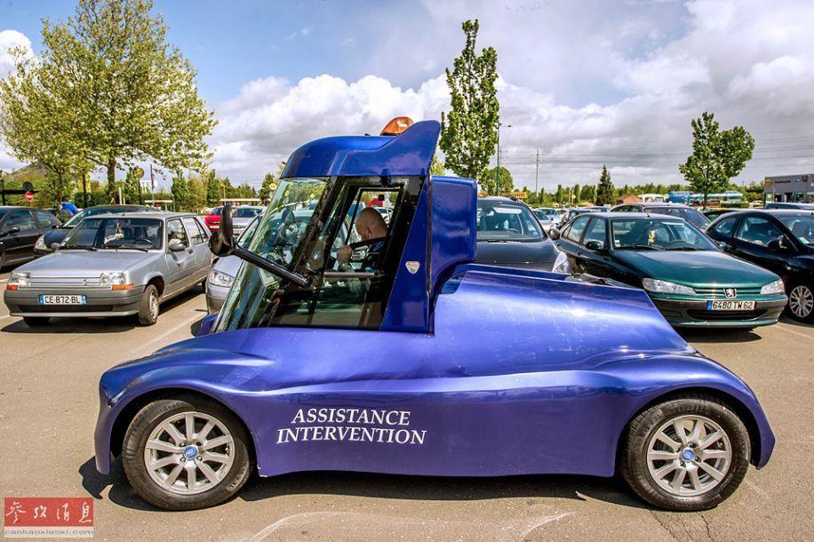 配观察设备的电动车:驾驶舱可升至3米