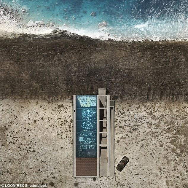 建筑师打造创意悬崖别墅:屋顶兼做泳池眺望大海
