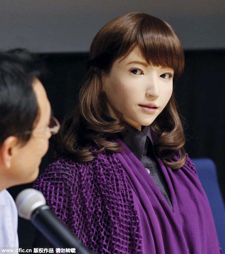 """日本大学科研团队研发与人对话""""美女机器人"""""""
