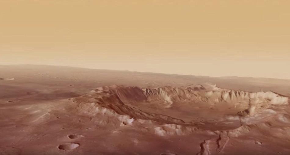 飞跃火星亚特兰蒂斯盆地:3D看奇特地质形态