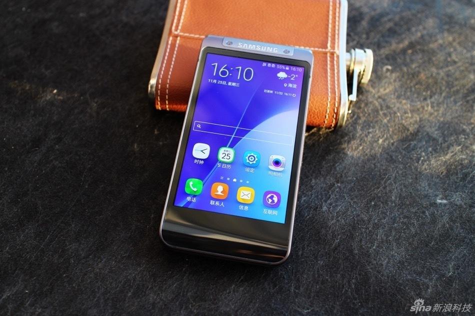 三星高端商务手机W2016实拍