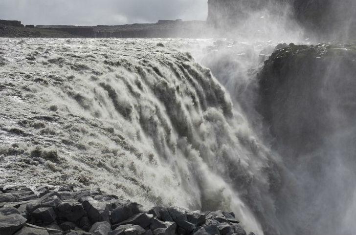 镜头捕捉令人震撼的冰岛瀑布美景