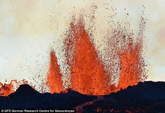 2014年冰岛火山喷发机制:持续喷涌近半年