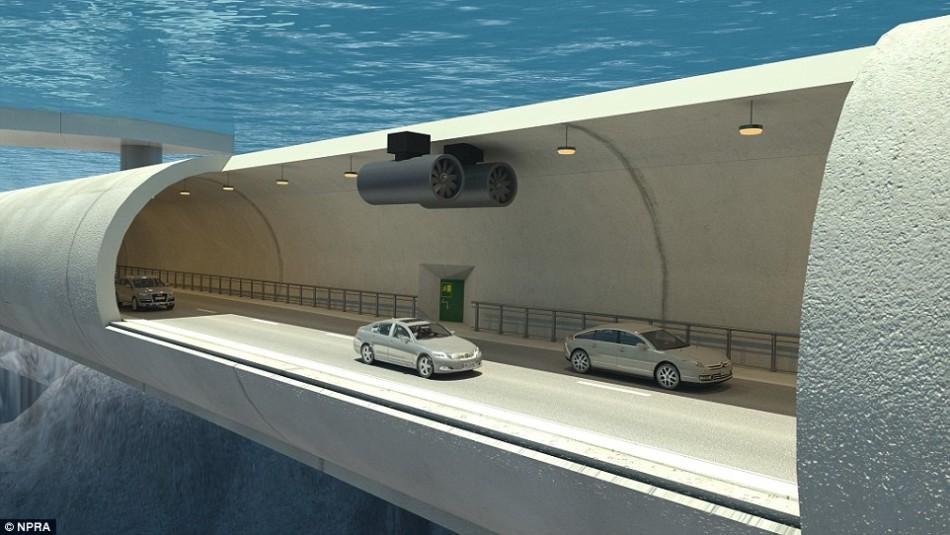 """挪威计划打造世界第一个""""漂浮""""海底隧道"""
