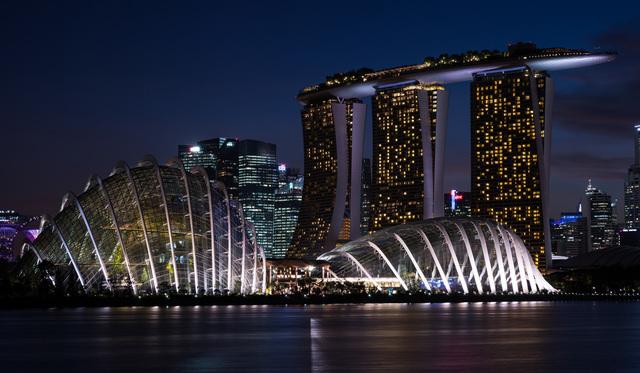 学拍艳丽迷离的城市夜景照图片