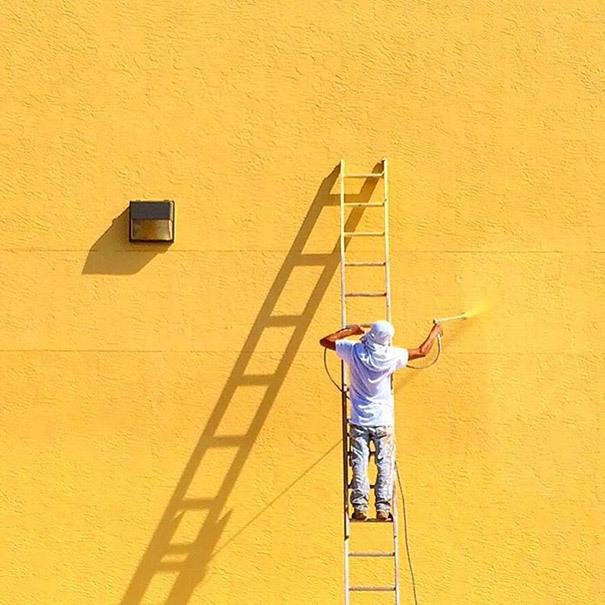 色彩浓郁 美国消防员的极简主义摄影