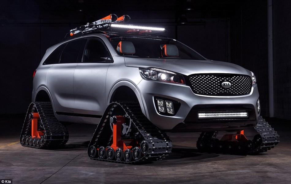 新型越野概念车:狂野坦克三角形履带取代车轮