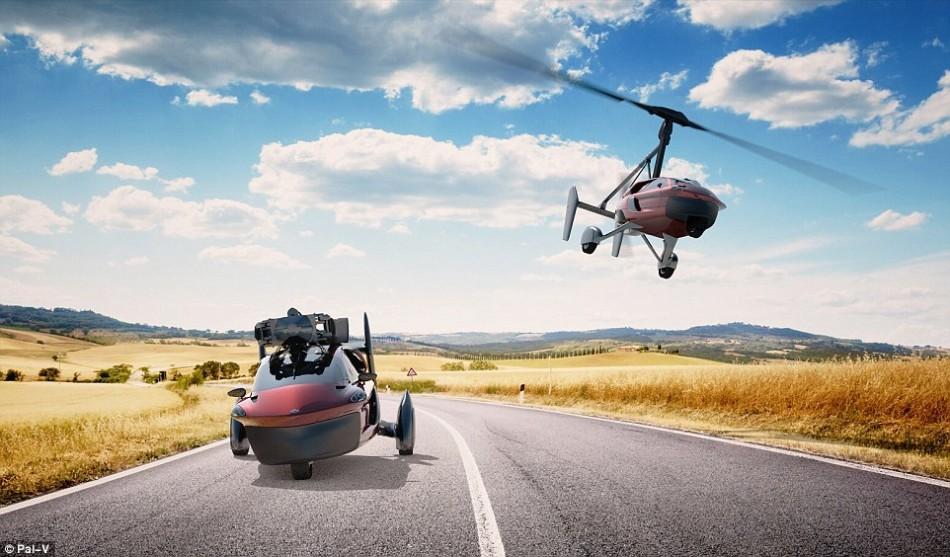 汽车和自转旋翼机的结合:飞