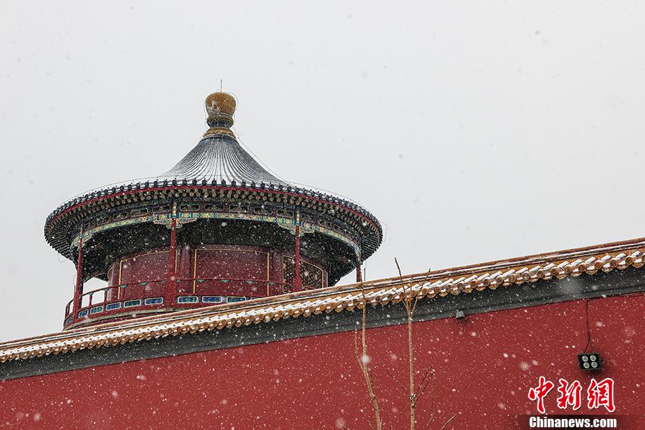 """从地标看""""春雪""""中的京城:一派银装素裹"""