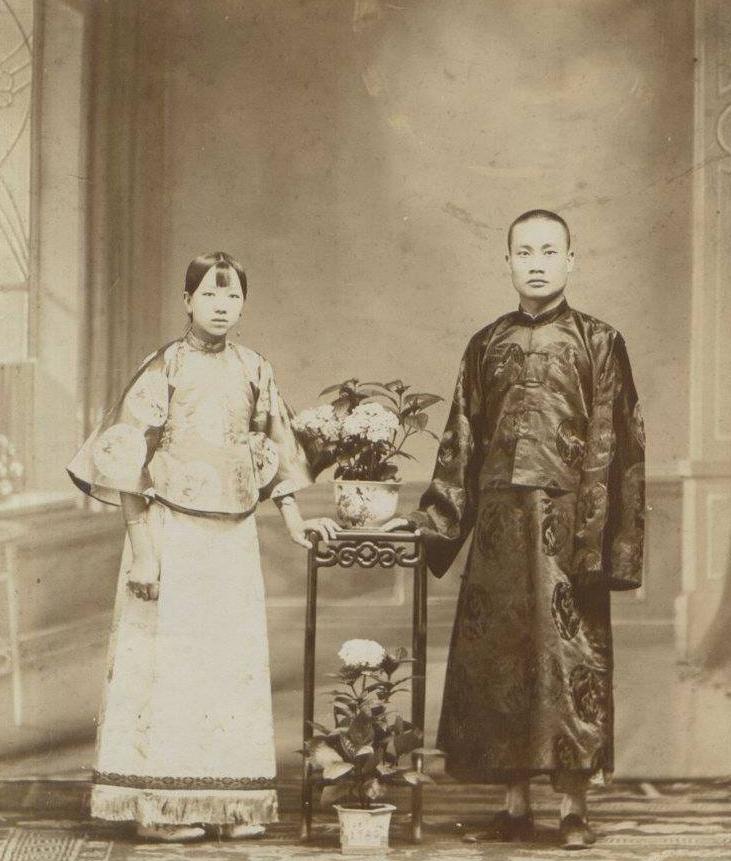 清末民初的罕见夫妻合影照