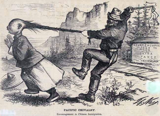 揪住辫子:1873年美国报纸如何侮辱华人