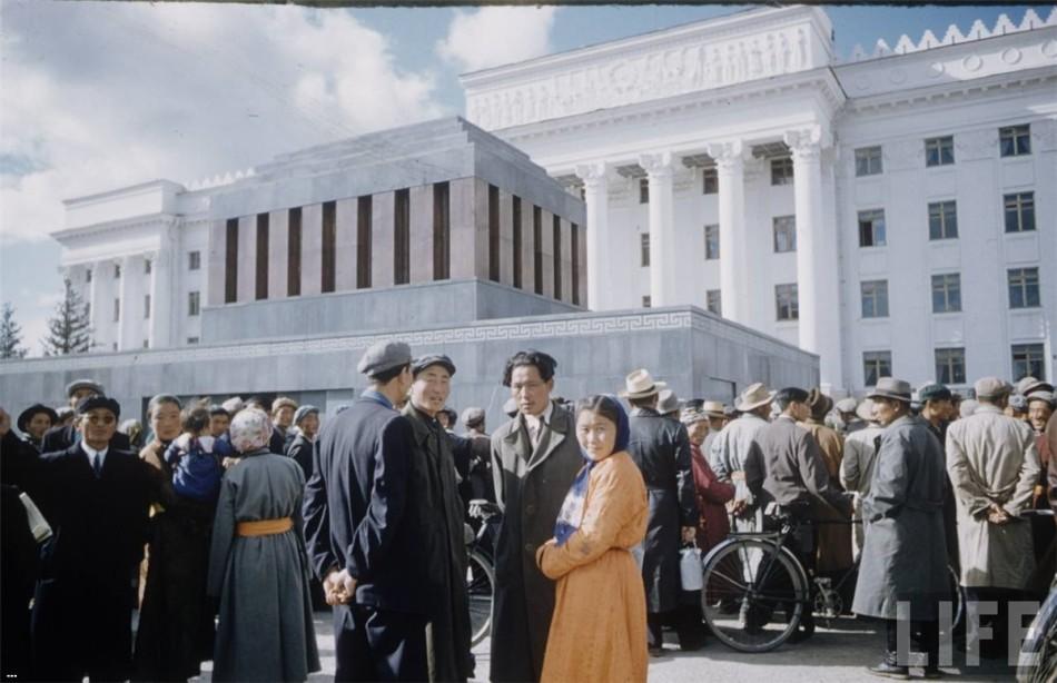 苏化的国度:1958年蒙古国首都彩照