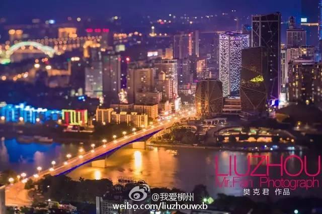 柳州高清夜景素材