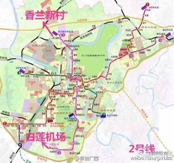 ...2号线规划线路基本确定,制式为轻轨.最近柳州市发改委(轨道办...图片 114468 600x560