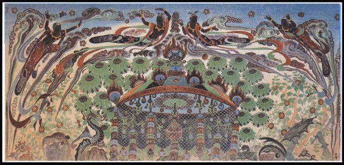 敦煌佛教壁画中的飞天图片