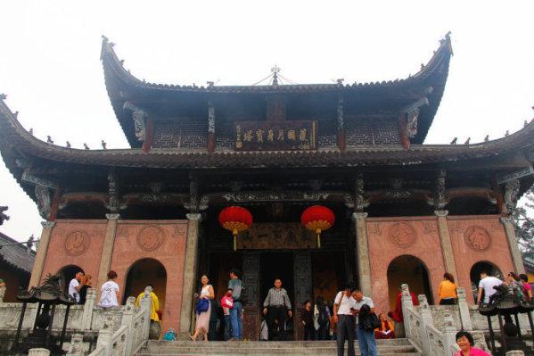 莲花佛国九华山之地藏禅寺与月身宝殿
