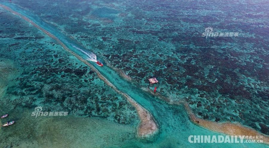 中国南海上的珍珠链