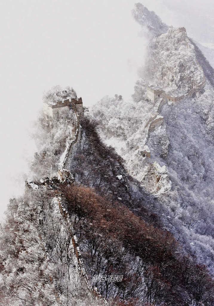 春雪 雾凇 云海齐聚箭扣