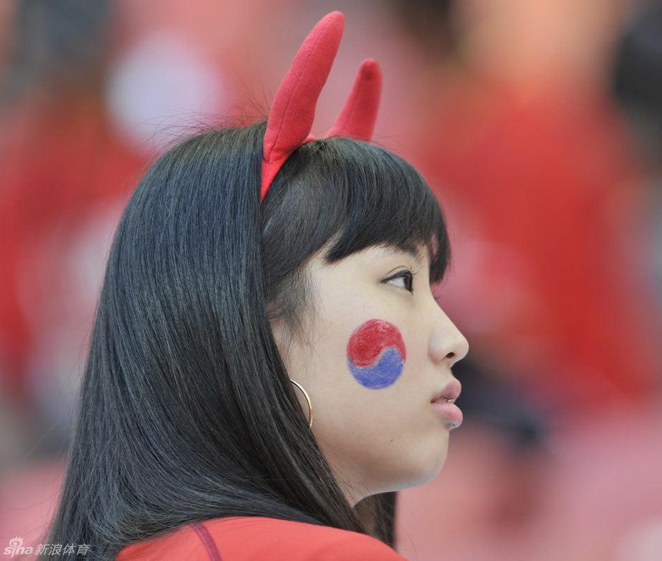 俄罗斯大战韩国美女球迷