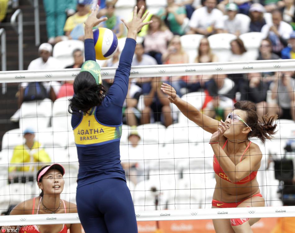 沙滩排球女子16强 王凡 岳园出战
