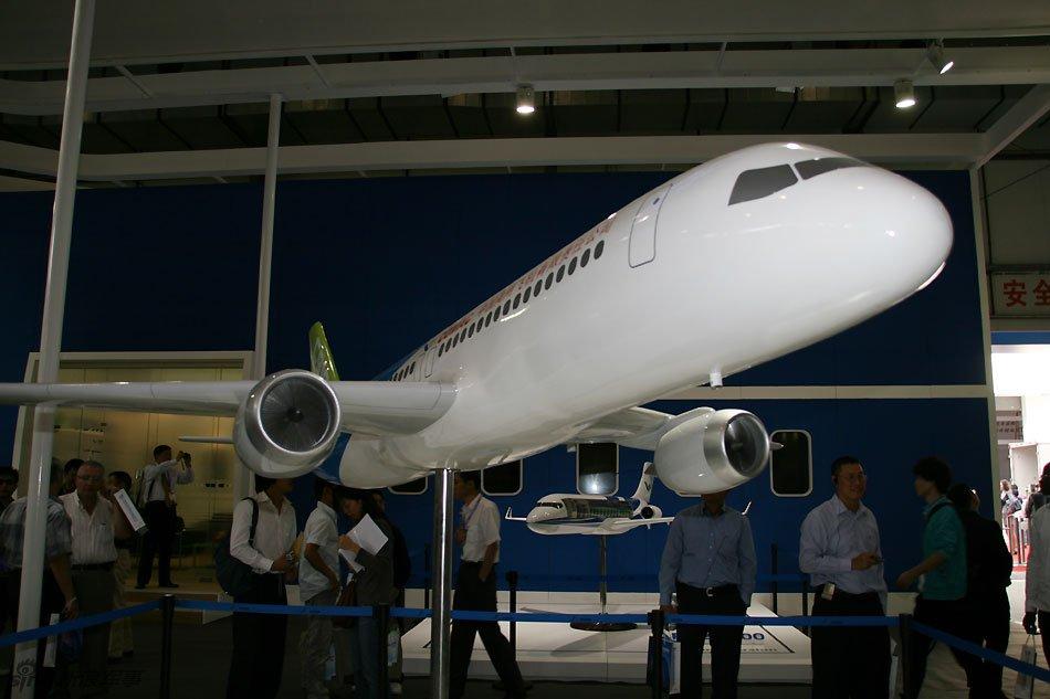 国产c919大飞机亮相北京航展