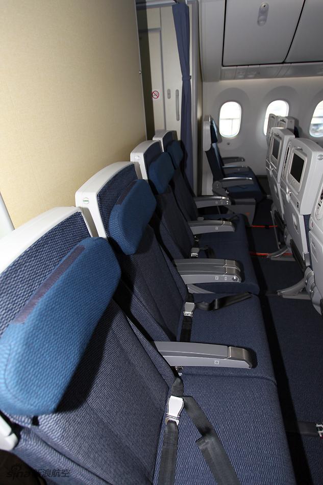方带来现场精彩图片.(摄影:陈诚)-波音787梦想客机经济舱