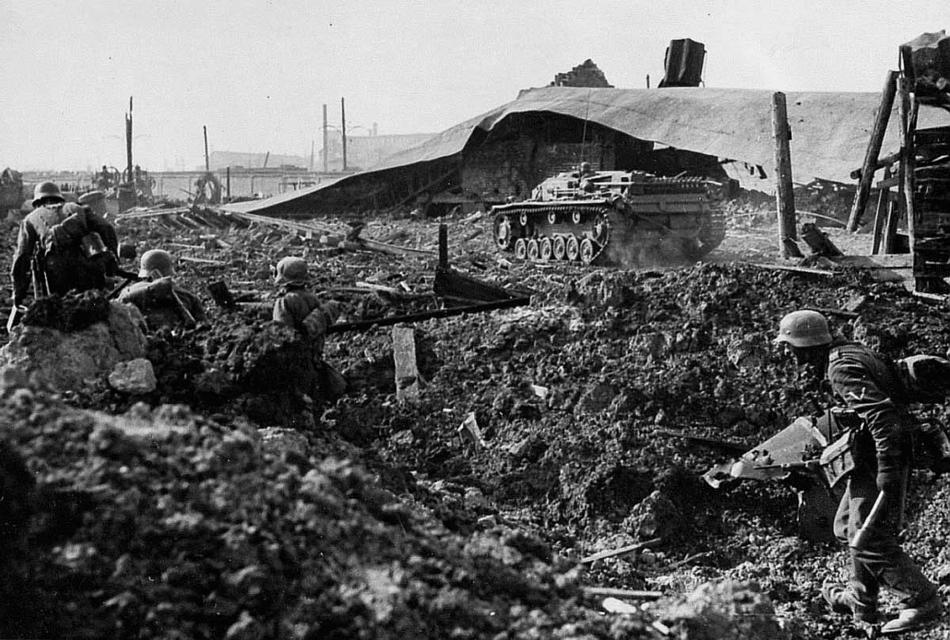 德军向斯大林格勒推进图片