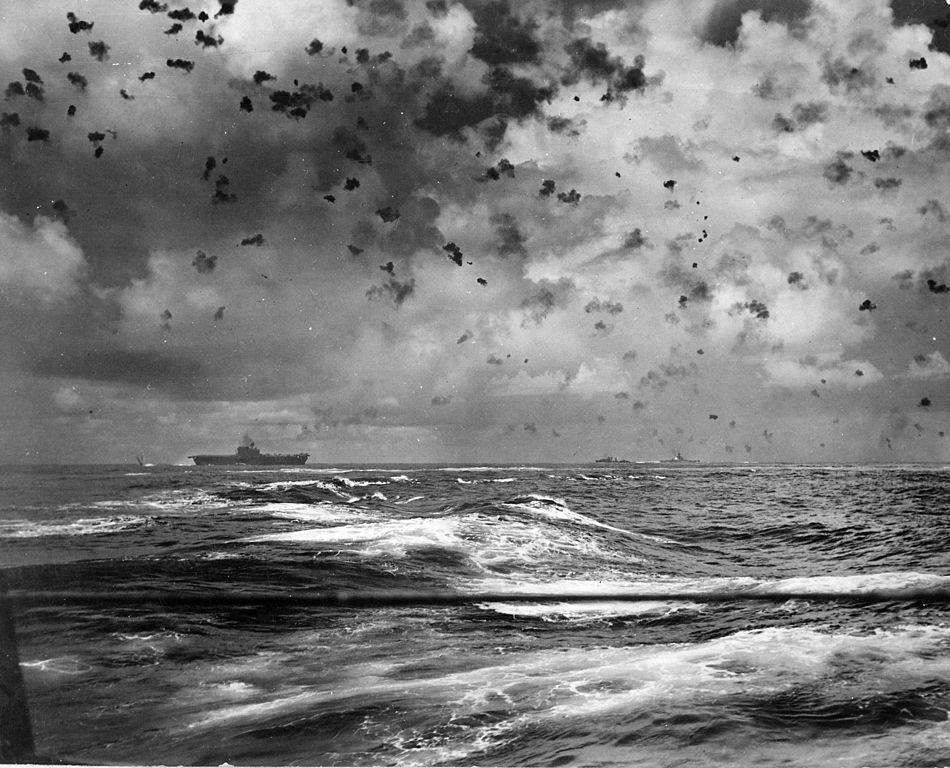 企业号所在的tf61编队击沉日本轻型航母龙骧,重创水上飞机母舰千岁号