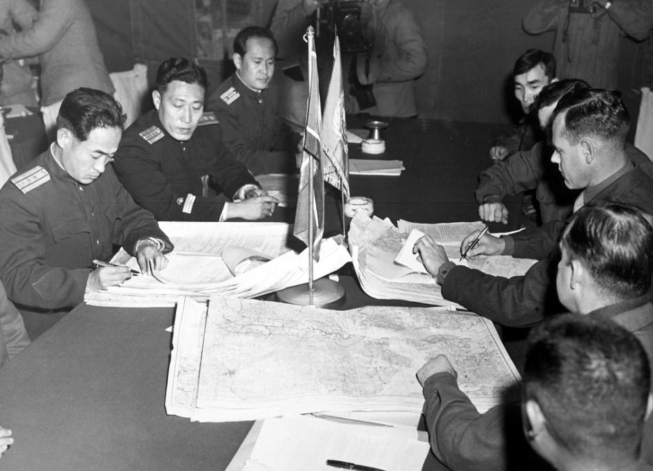 板门店朝鲜停战协议签订
