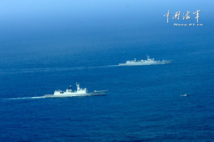 海军舰机编队远海协同作战演练