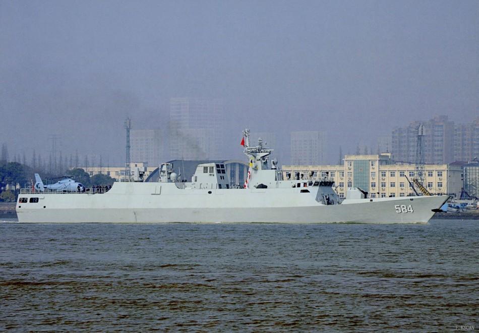 584 056 ВМС Китая фрегат корабль Мэйчжоу