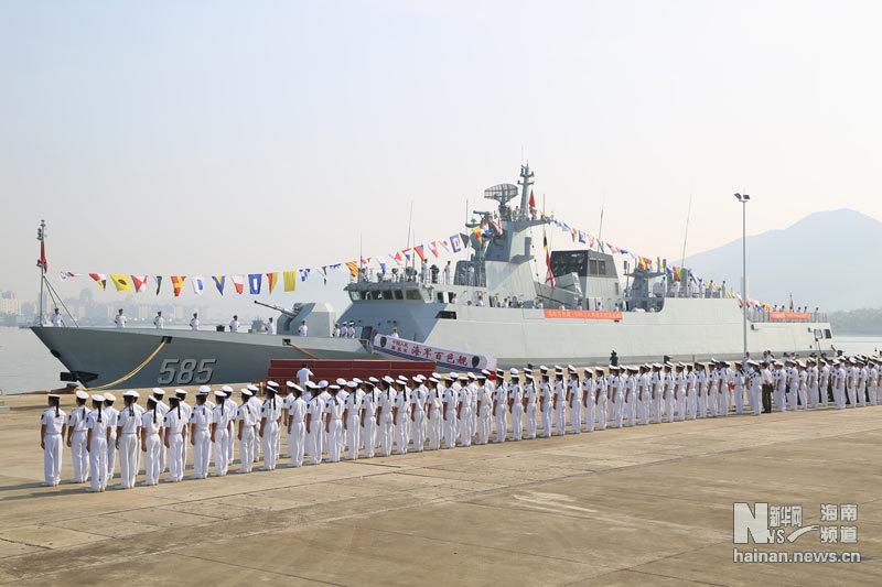 585 056 ВМС Китая фрегат корабль бозе