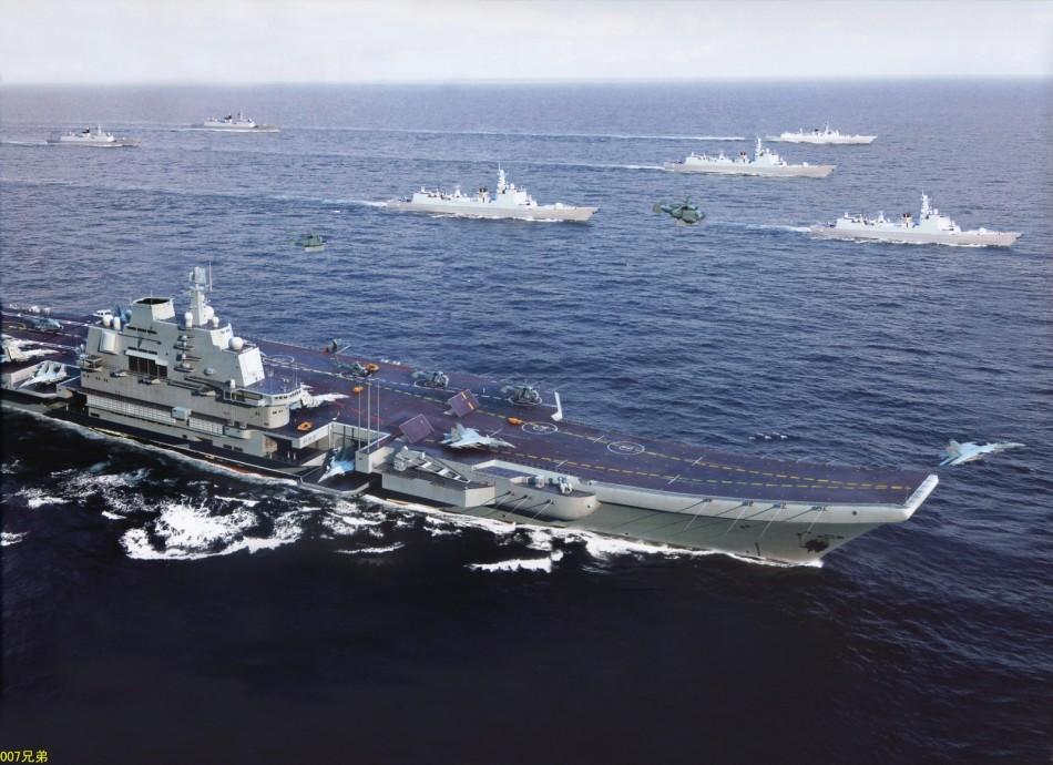 Китайские ВМС авианосец боевые группы предусматривается схема конфигурации