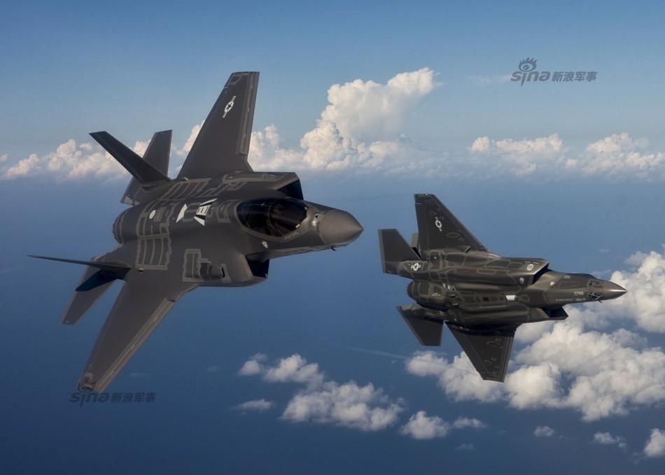 美国空军公开埃格林基地F 35机群测试训练猛照图片 129619 950x679