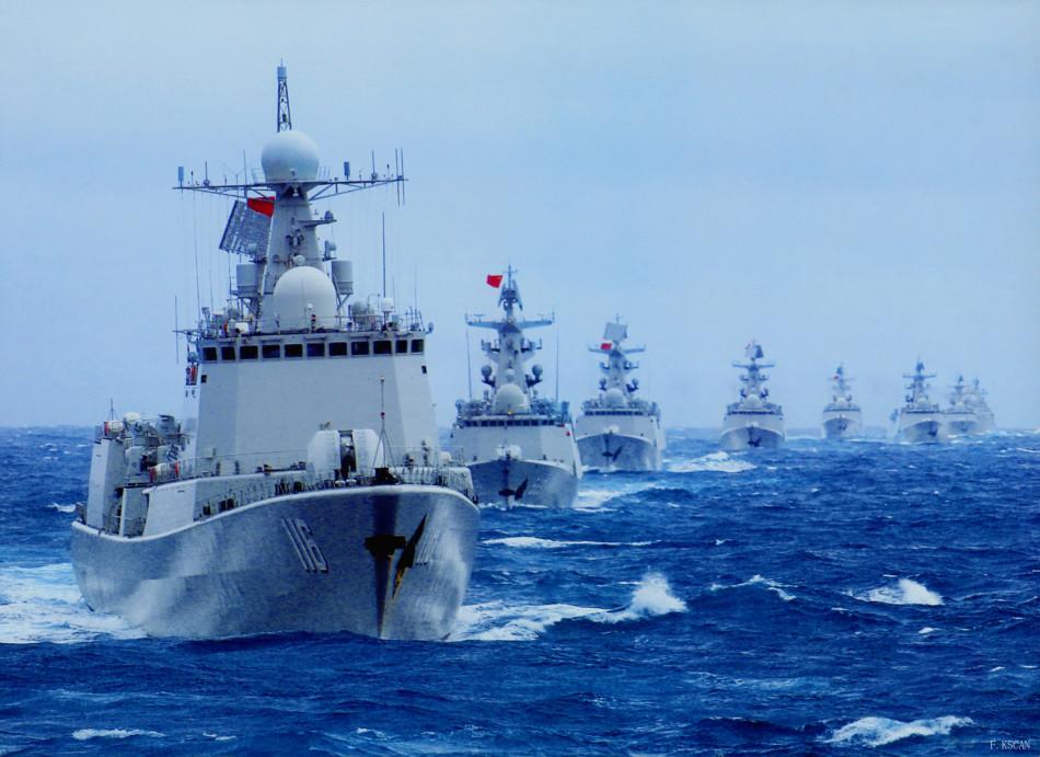 官媒放海军猛照:大批新战舰西太深海列队航行
