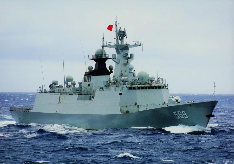 054A级新护569玉林舰深海航行