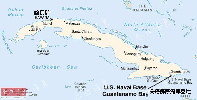 关塔那摩监狱位置