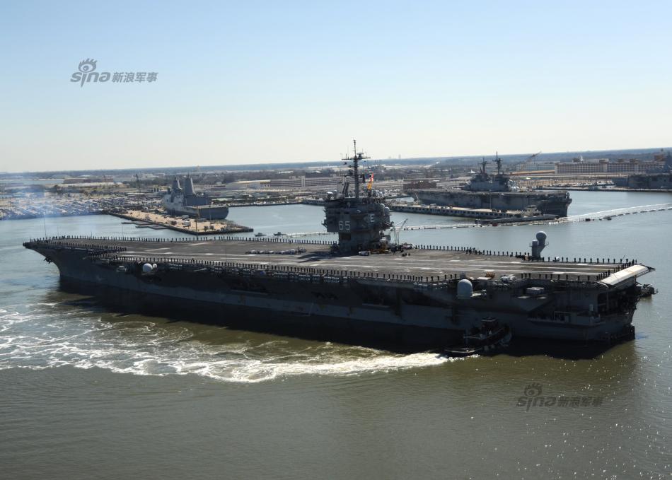 等到福特号航母服役,美国海军的海外部署能力将恢复到11艘航母的水图片