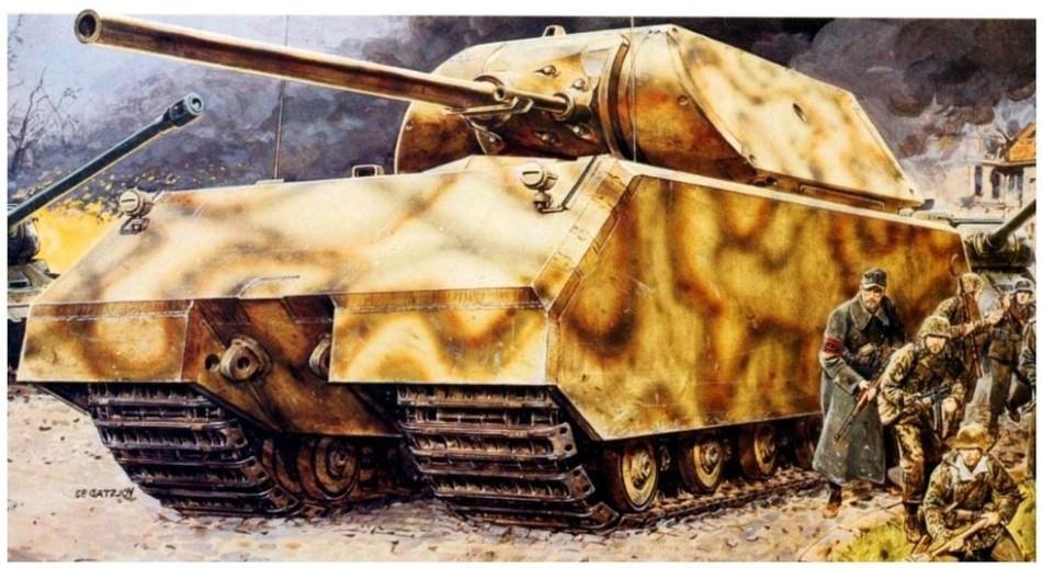 资料图:二战纳粹德国的鼠式坦克.图片