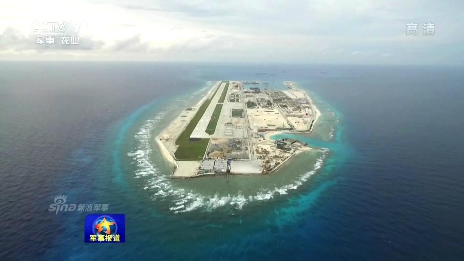 中国收复西南沙70周年:俯拍永暑岛旧貌换新颜