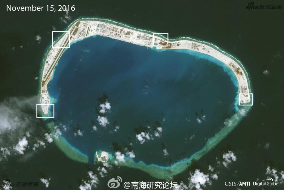 中国外交部发言人曾表示,中方对南沙部分驻守岛礁进行的相关建设和设施维护,既是为了完善岛礁的相关功能,改善驻守人员的工作和生活条件,更是为了履行中方在海上搜寻与救助、防灾减灾、海洋科研、气象观察、环境保护、航行安全、渔业生产服务等方面承担的国际责任和义务。