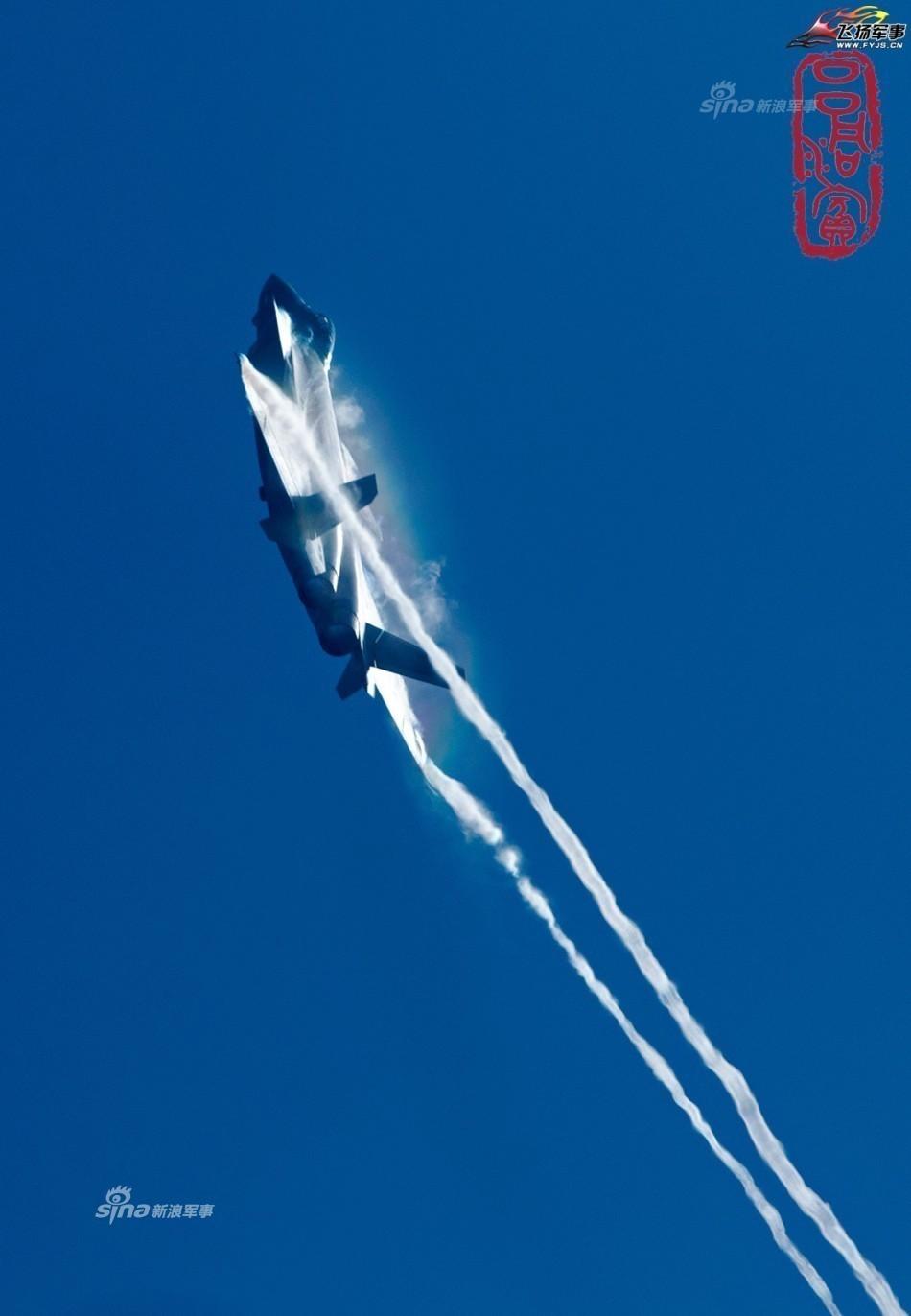 绚丽涡流:量产歼20试飞展现完美气动