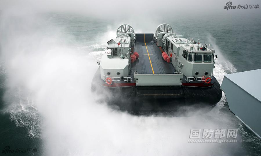 我野马气垫船列装:配071登陆