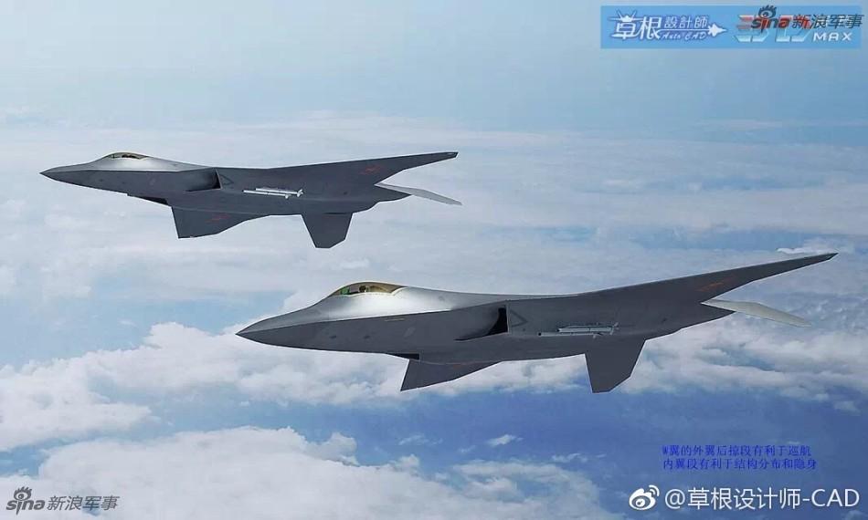 展望未来:网友绘中国六代机CG