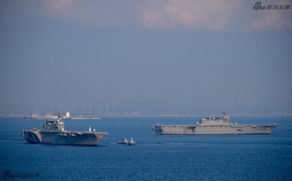 炫耀!日本两艘最强准航母出动