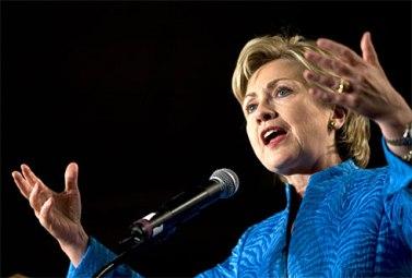 美民主党内最新民调:希拉里大幅领先奥巴马