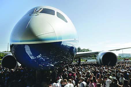"""波音公司787""""梦想""""客机下线"""